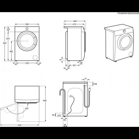 ELECTROLUX skalbyklė EW6S327SI