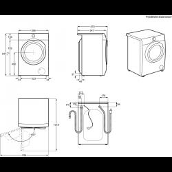 ELECTROLUX skalbyklė EW7W447W