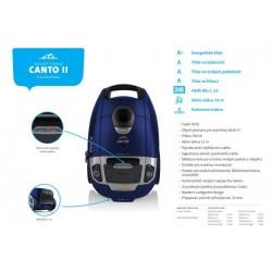 A+AAA klasių dulkių siurblys ETA149290020 Canto II, t.mėlynas